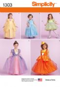 1303 Simplicity Pattern: Toddlers' and Child's Costumes